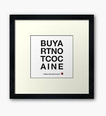 Compra arte no cocaina Lámina enmarcada