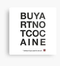 Compra arte no cocaina Lienzo metálico