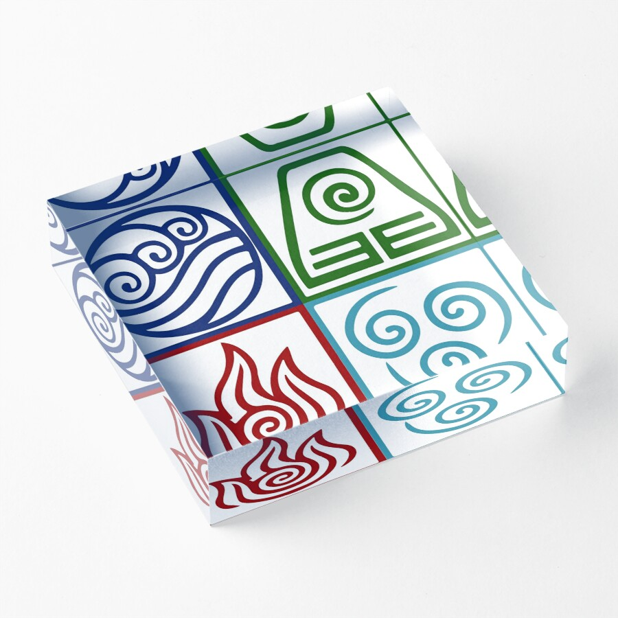 Four elements symbol avatar acrylic blocks by daljo redbubble four elements symbol avatar biocorpaavc Image collections