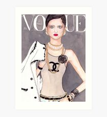 Vogue Paris March 2009 Cover Art Print