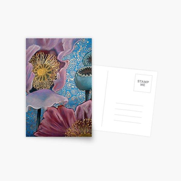 Pink Poppies Postcard
