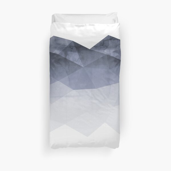 Fifty Shadows of Blue Duvet Cover