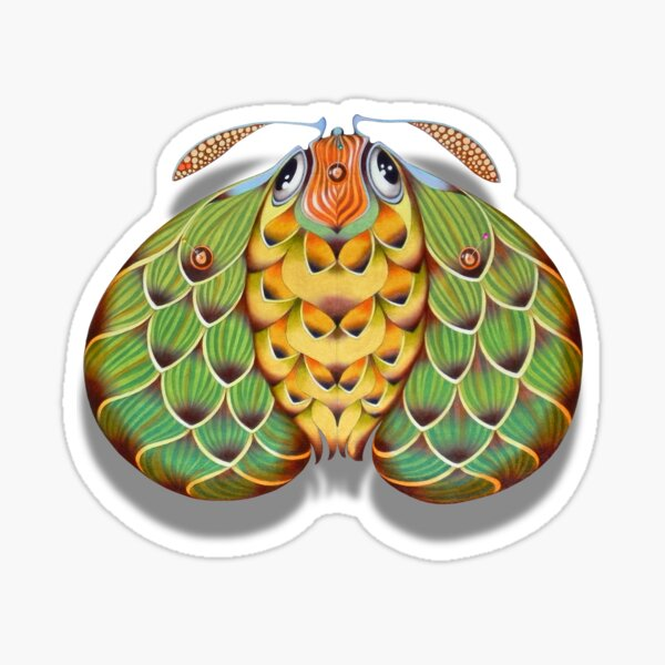 The hop moth Sticker
