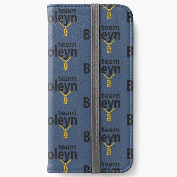 Anne Boleyn 'Team Boleyn' slogan with B necklace iPhone Wallet
