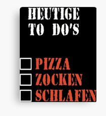 To Do Pizza Pizza Sleeping Canvas Print