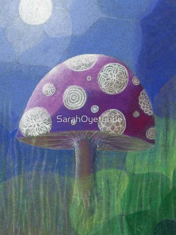 Purple Mandala Fungi by SarahOyetunde