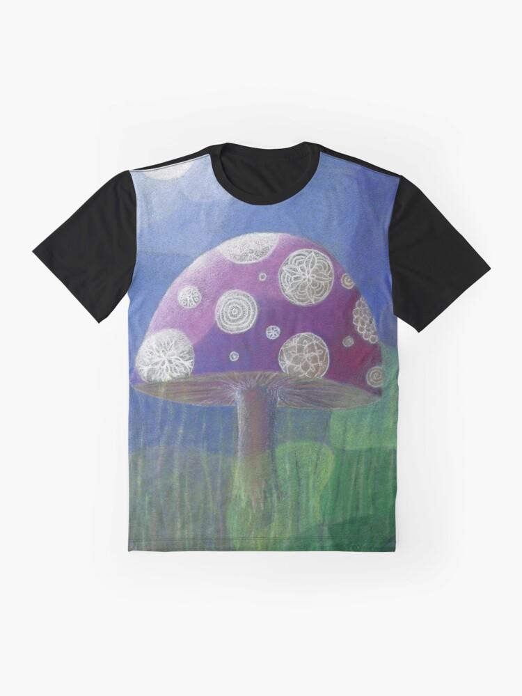 Alternate view of Purple Mandala Fungi Graphic T-Shirt