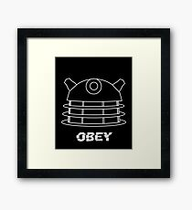 Dalek - Obey (White) Framed Print
