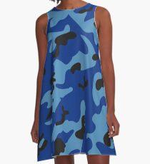 Blue Camo A-Line Dress