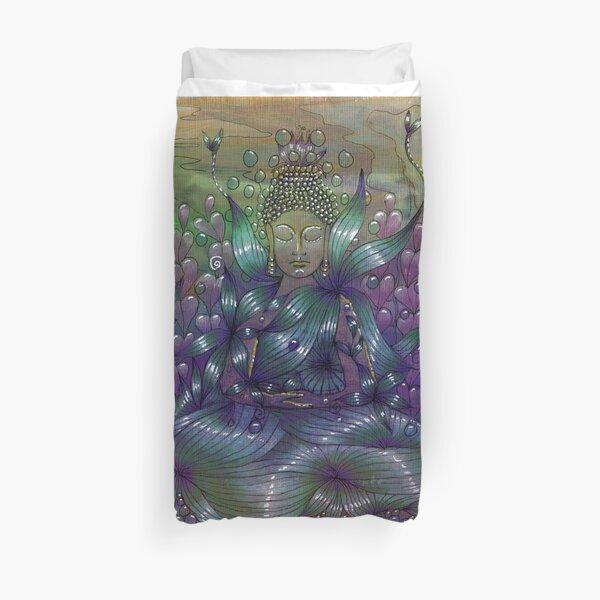 Moonlight Meditation Duvet Cover