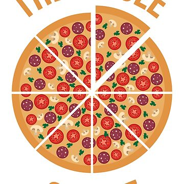 The Circle Of Life Pizza TShirt by RedYolk