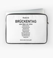 German wordgame for Brückentag Laptop Sleeve