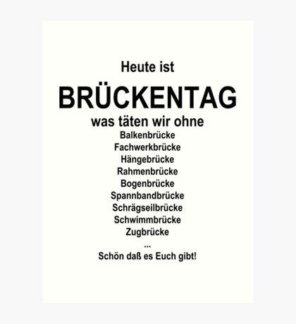 German wordgame for Brückentag Art Print