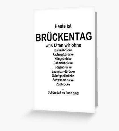 German wordgame for Brückentag Greeting Card