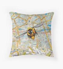 Flight of the Bumblebee Throw Pillow