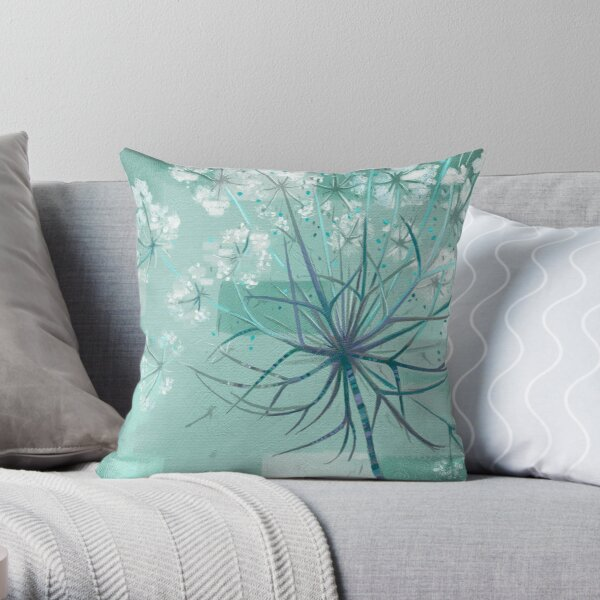 Nature's Hogweed Throw Pillow