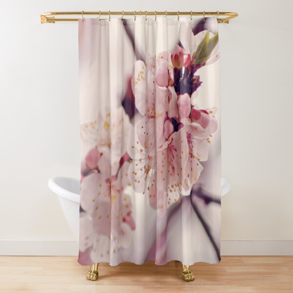 In pink Shower Curtain