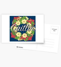 Caitlin - Personalised Wreath of Flowers Postcards