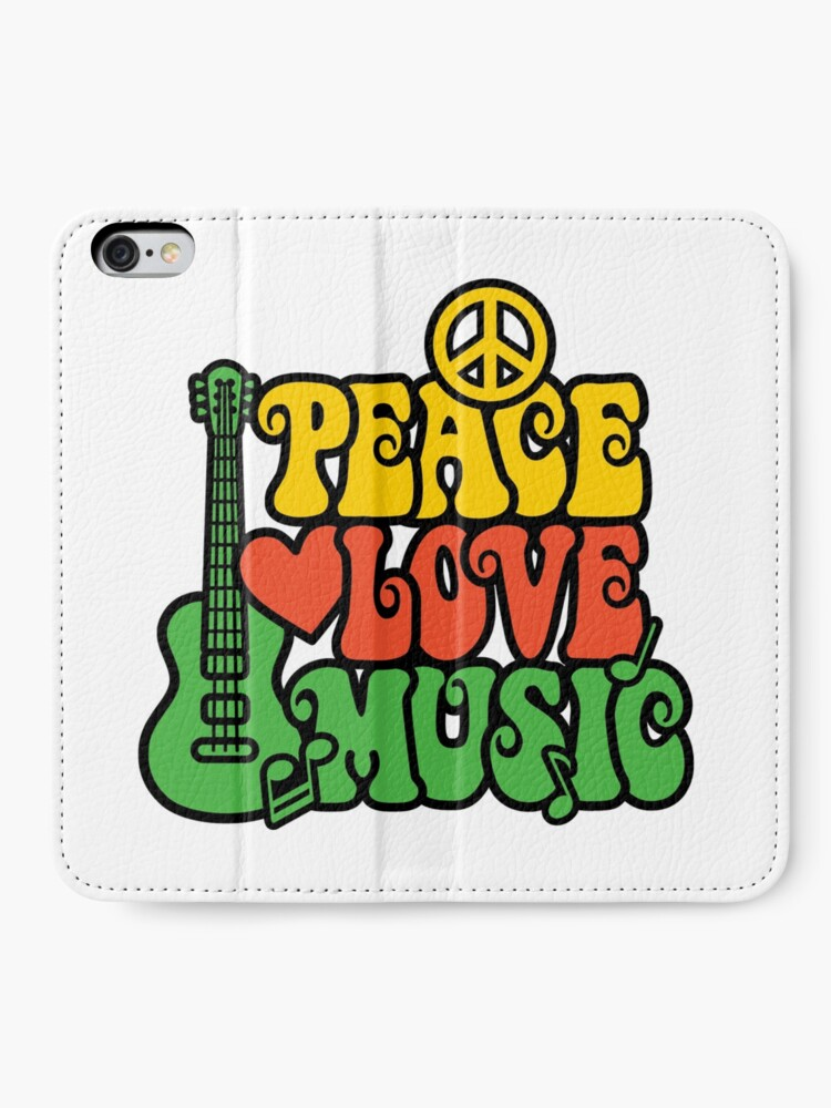 Alternative Ansicht von Reggae Peace-Love-Musik iPhone Flip-Case