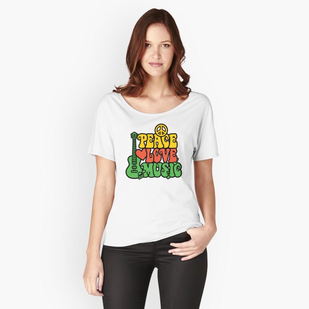 Reggae Peace-Love-Musik Loose Fit T-Shirt