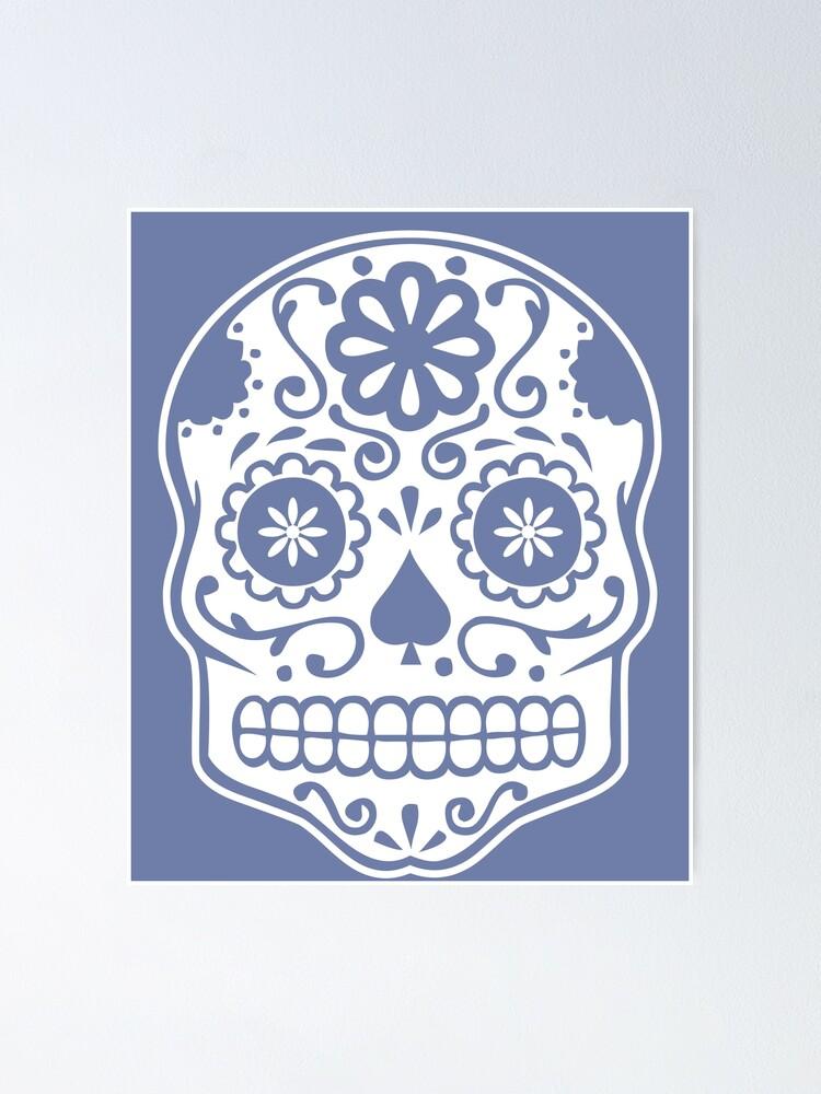 Blue 16in SKELETON=DAY OF DEAD= HALLOWEEN = FOLK ART