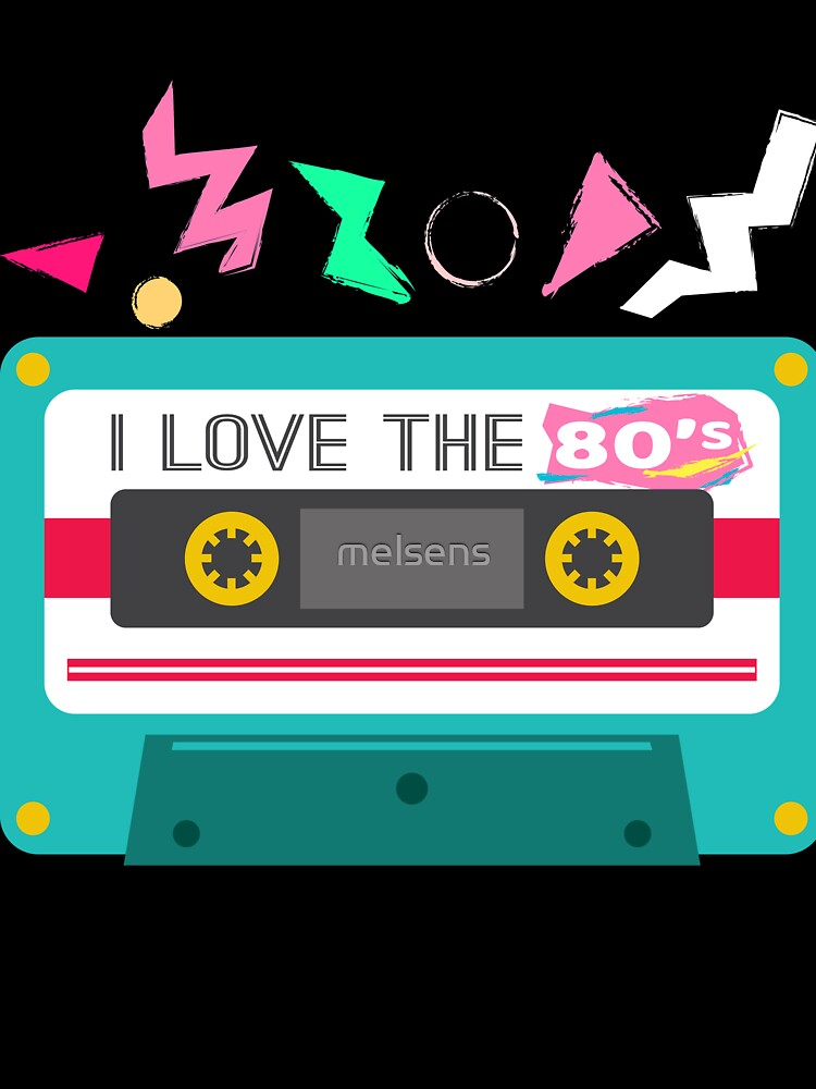 I Love The 80s Tote Bag 80/'s Fancy Dress Costume Outfit Neon Party Shoulder