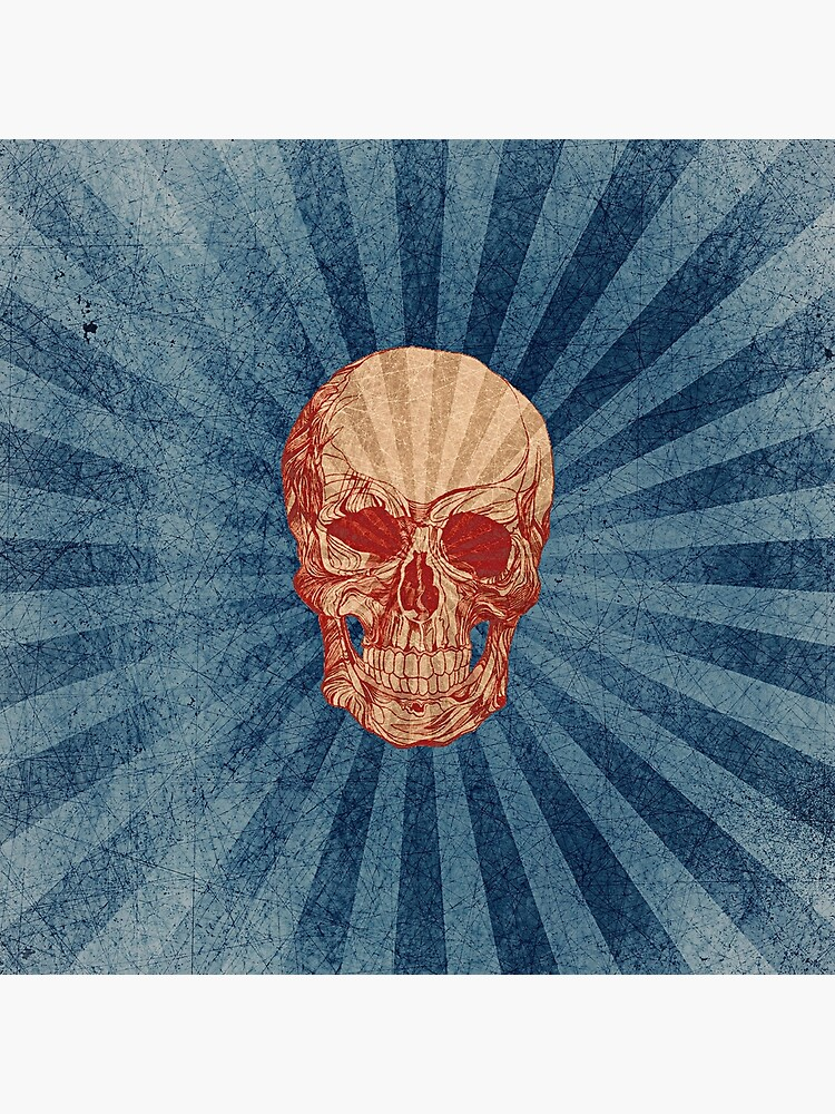 Retro Skull by Helt-Sort