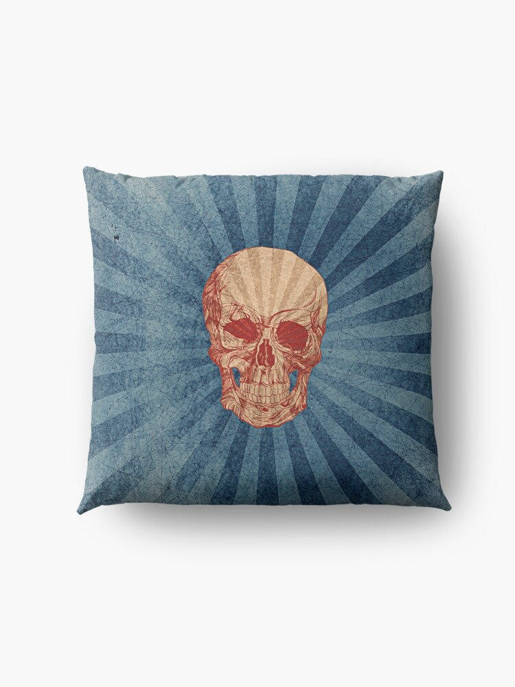 Alternate view of Retro Skull Floor Pillow
