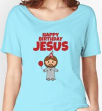 Jesus Happy Birthday Boy Women's Relaxed Fit T-Shirt
