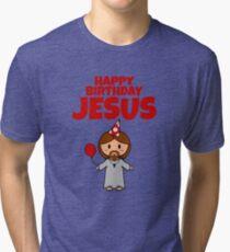Jesus Happy Birthday Boy Tri-blend T-Shirt