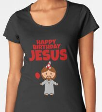 Jesus Happy Birthday Boy Women's Premium T-Shirt