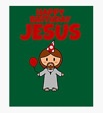 Jesus Happy Birthday Boy Photographic Print
