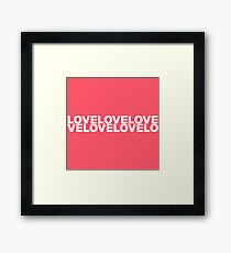 trendy romantic love inscription. valentine's day affection lettering Framed Print