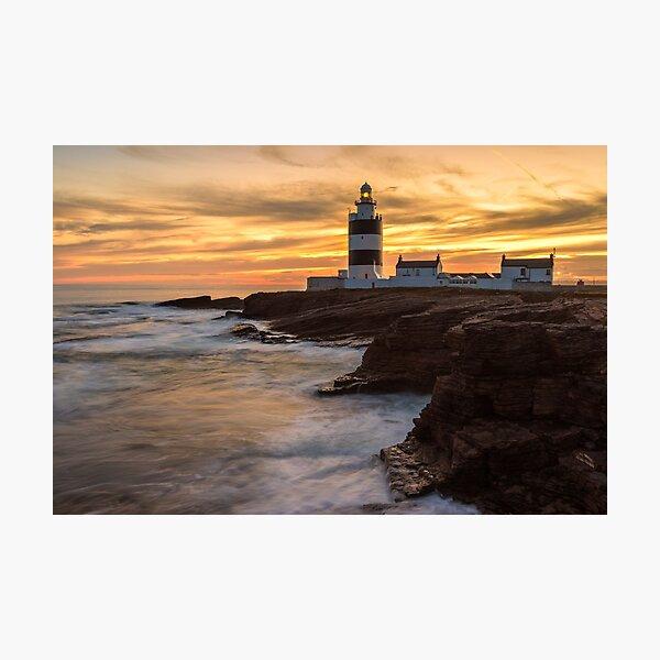 Dusk At Hook Lighthouse Photographic Print