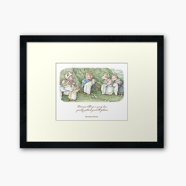 Brambly Hedge Naming Ceremony Framed Art Print