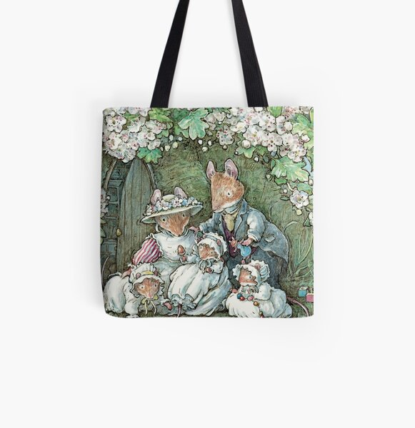 Brambly Hedge - Poppy Dusty and babies All Over Print Tote Bag