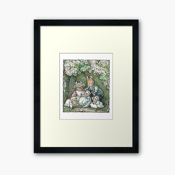 Brambly Hedge - Poppy Dusty and babies Framed Art Print
