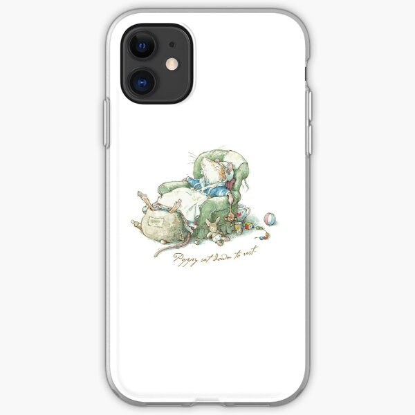 Brambly Hedge - Poppy sat down to rest iPhone Soft Case