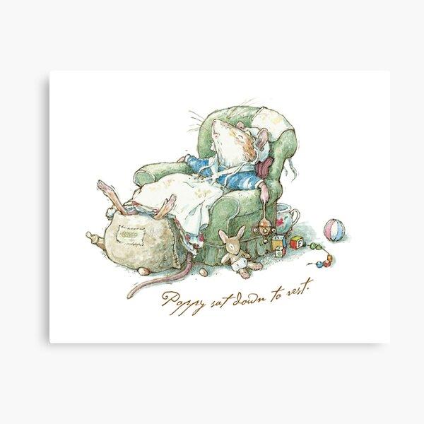 Brambly Hedge - Poppy sat down to rest Canvas Print