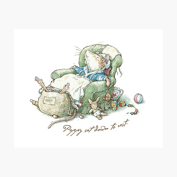 Brambly Hedge - Poppy sat down to rest Photographic Print