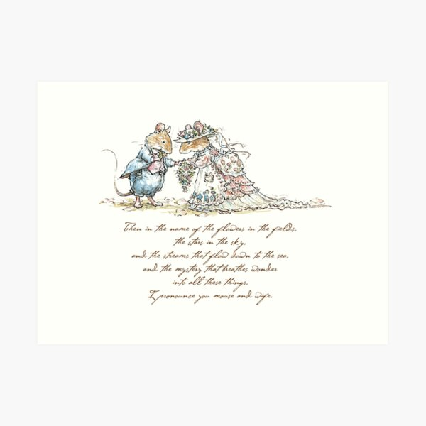 I pronounce you mouse and wife Art Print