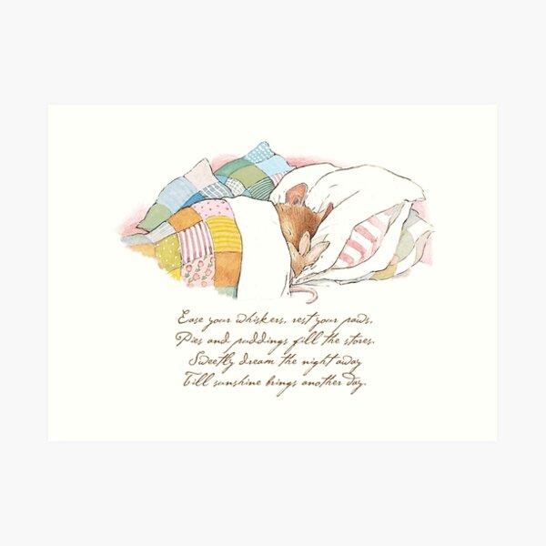 Primrose goes to sleep Art Print