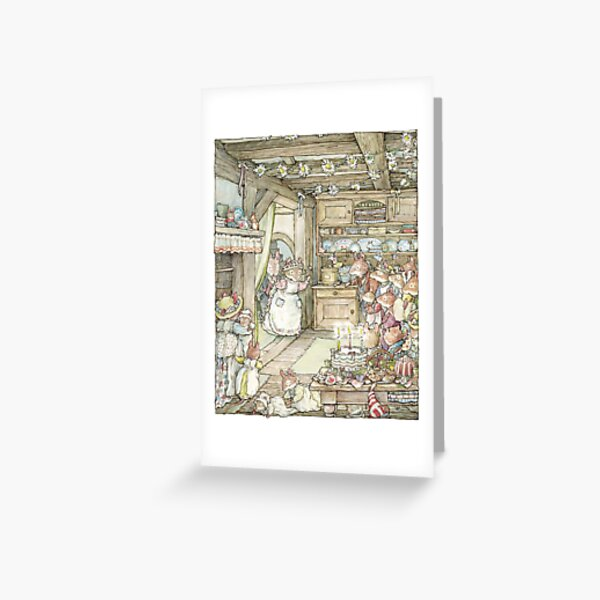 Surprise at Mayblossom cottage Greeting Card