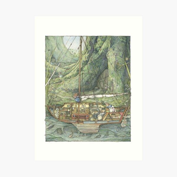 Cutaway of Dustys Boat Art Print