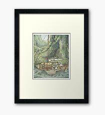 Cutaway of Dustys Boat Framed Print