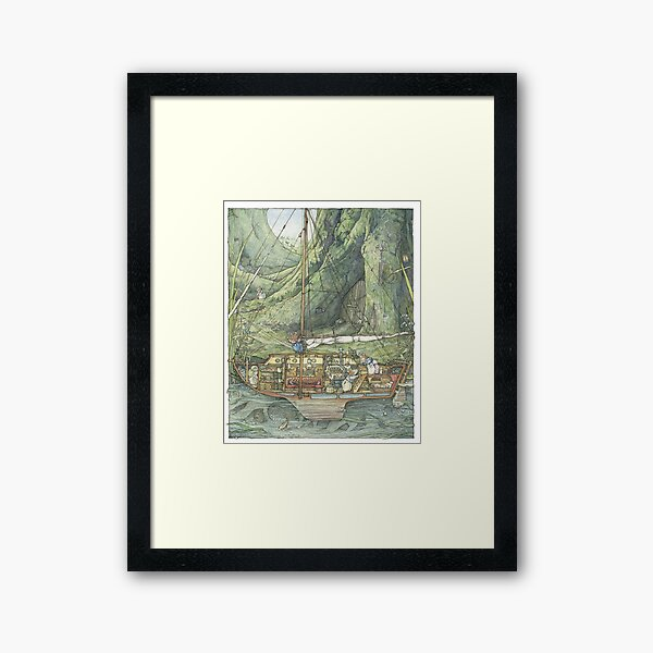 Cutaway of Dustys Boat Framed Art Print