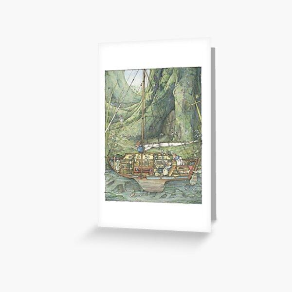 Cutaway of Dustys Boat Greeting Card