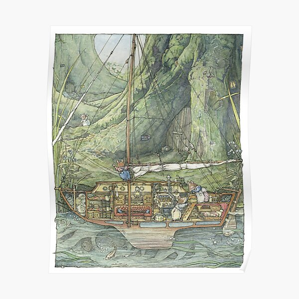 Cutaway of Dustys Boat Poster