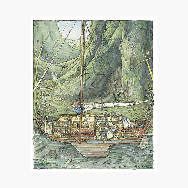 Cutaway of Dustys Boat Photographic Print