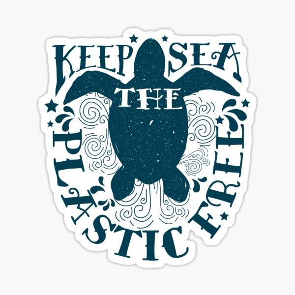 Keep The Sea Plastic Free Sea Turtle Conservation Sticker